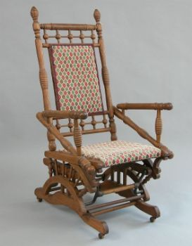 Victorian Oak Glider Rocking Chair 09 20 03 Sold 132 25