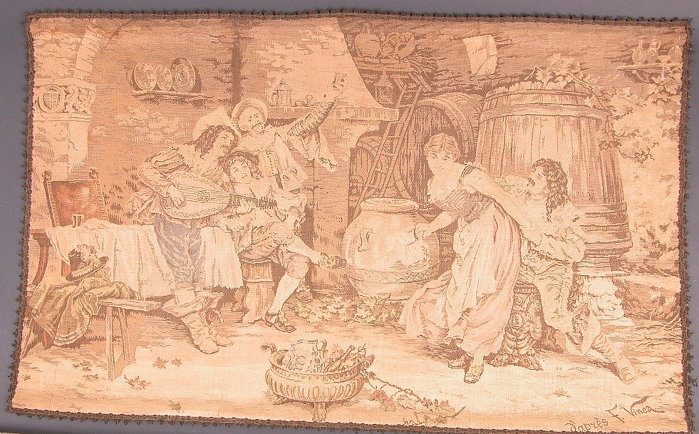 A Jacquard Tapestry After F Vinea Late 19th Early 20th