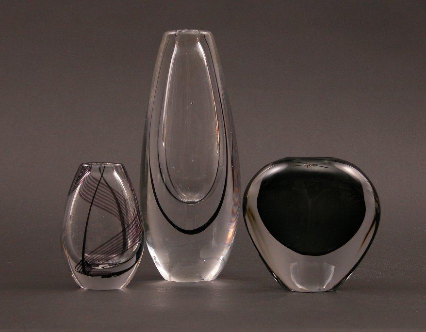Pair Of Kosta Boda Glass Vases Amp Orrefors Bud Vase 06 04 04 Sold 126 5