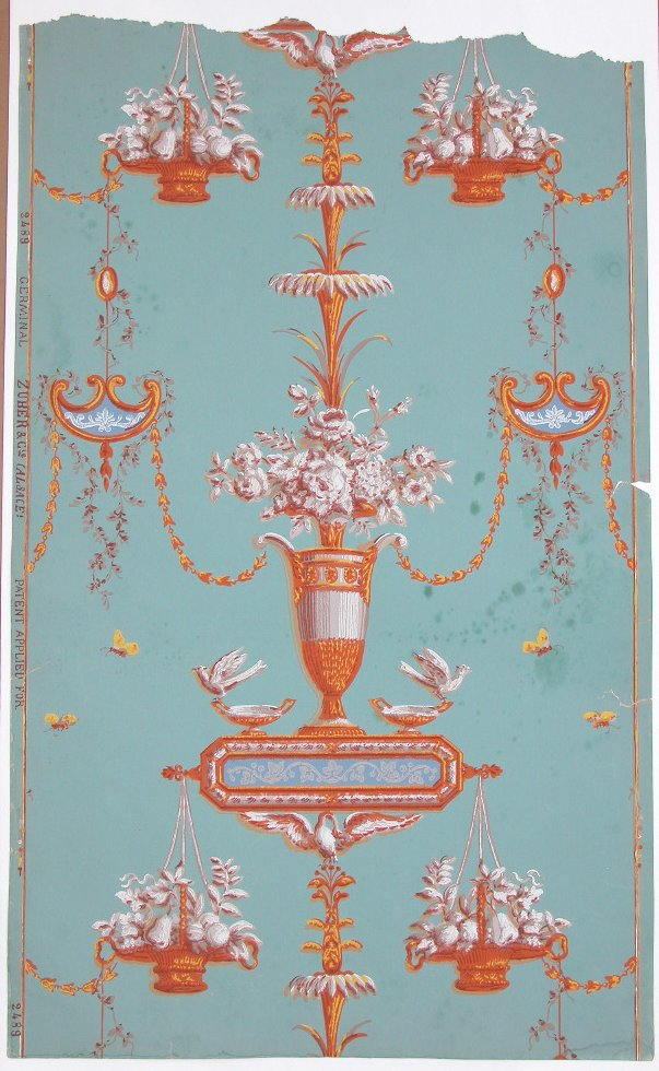 th century french wallpaper sample