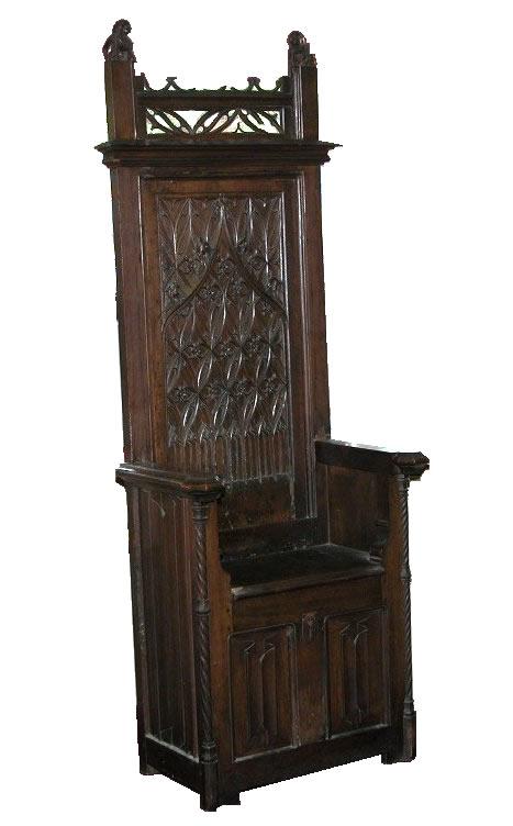 Flamboyant Gothic Chair French Ca 15th Century 09 17 04
