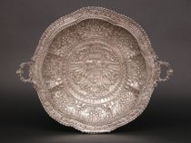 A Continental Silver Repousse Medallion, ca. 19th Century