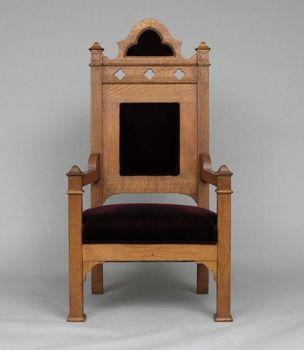 Charming Oak Gothic Bishopu0027s Chair