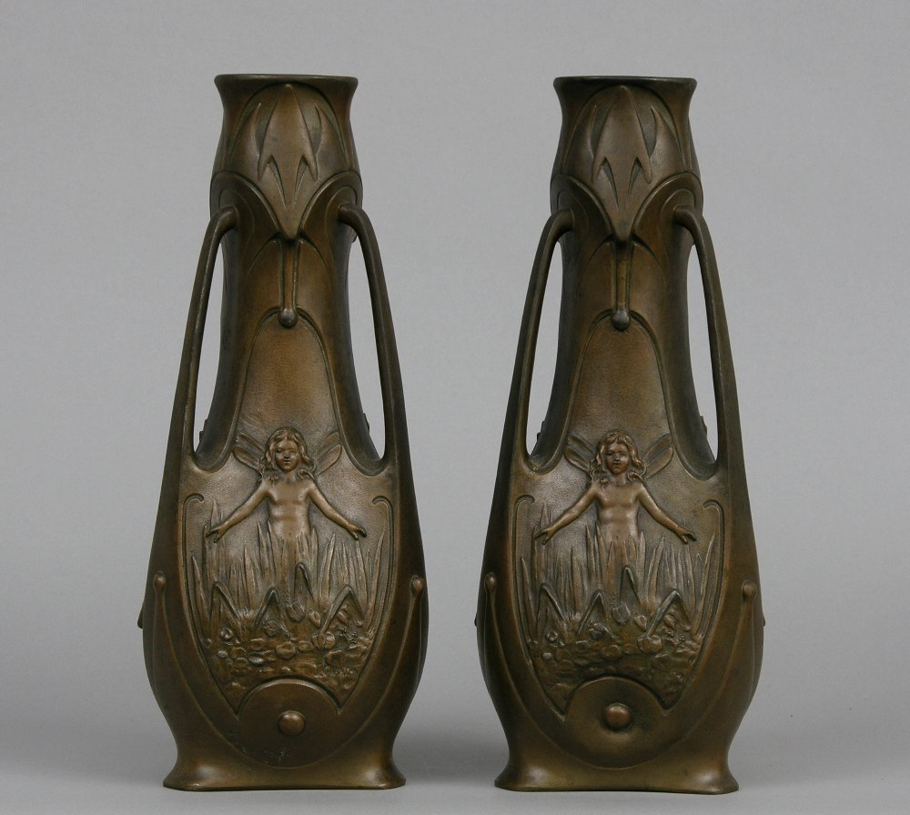 Pair of spelter art nouveau vases 020405 sold 48875 pair of spelter art nouveau vases reviewsmspy