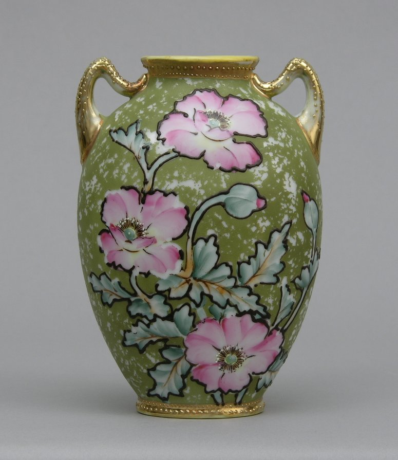 Double Handled Nippon Vase 020405 Sold 805