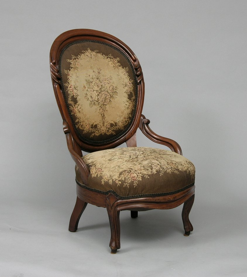 Antique victorian chairs - Victorian Slipper Chair