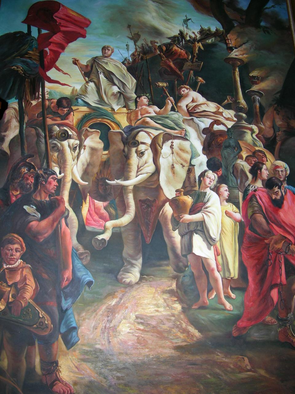A Monumental Painting Of Hannibal Barca Circa 247 183 Bc