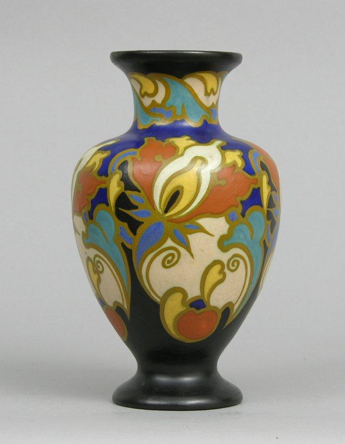 Gouda Regina Irene Vase Holland Circa 1930s 040805 Sold 253