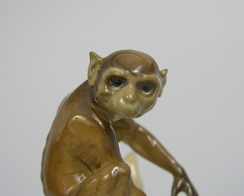 Hutschenreuther selb porcelain monkey figurine germany ca mid 20th century sold - Gorilla figurines ...