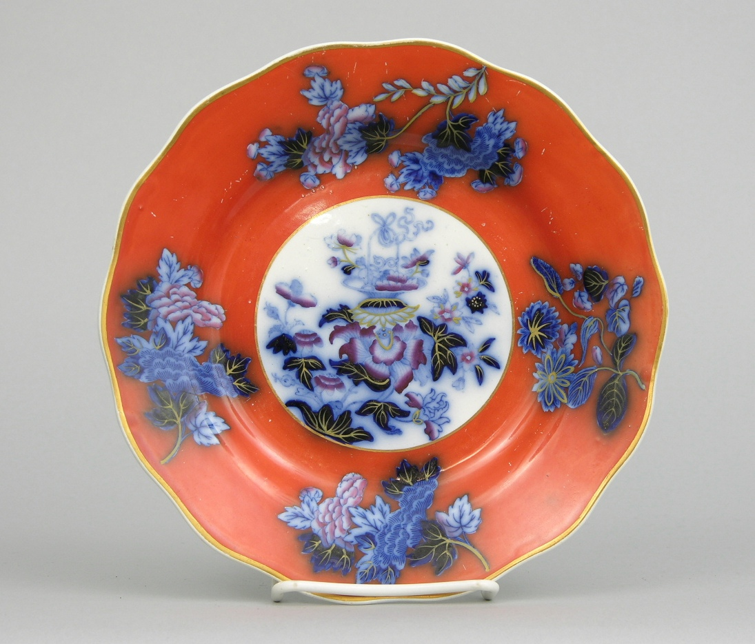 Wedgwood Flow Blue Pearl Ware Oriental Decorated Plate Ca