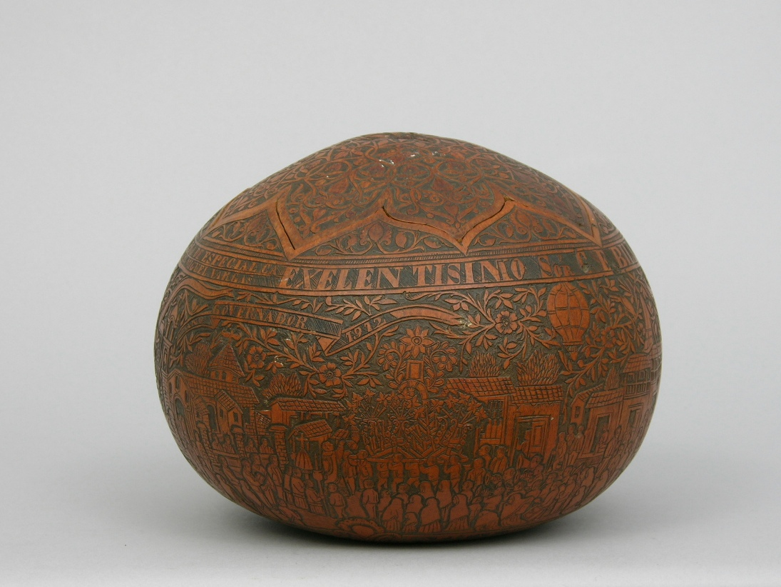 Carved Calabash Gourd Commemorating The President Of The