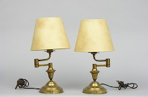 Decorative arts march 2006 auction pair of small brass table lamps ca 1920s aloadofball Choice Image