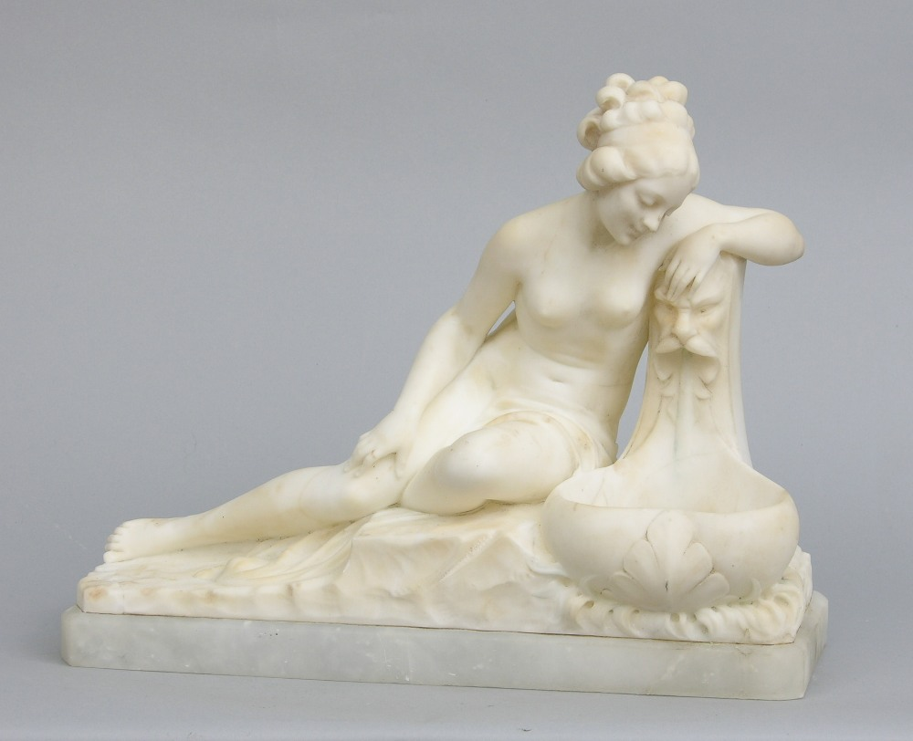 White Marble Sculpture of a Reclining Woman ca. 20th Century & White Marble Sculpture of a Reclining Woman ca. 20th Century ... islam-shia.org