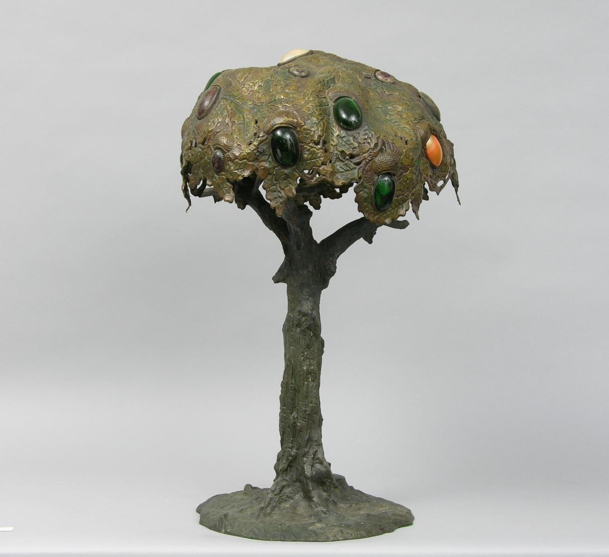 Massive Arts U0026 Crafts Oak Tree Table Lamp