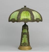 Slag glass lamp // Aspire Auctions