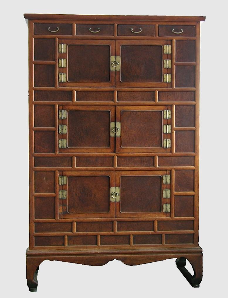 A 19th Century Korean Burlwood Cabinet