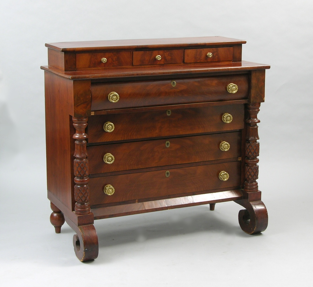 Captivating An American Empire Style Dresser, 19th Century