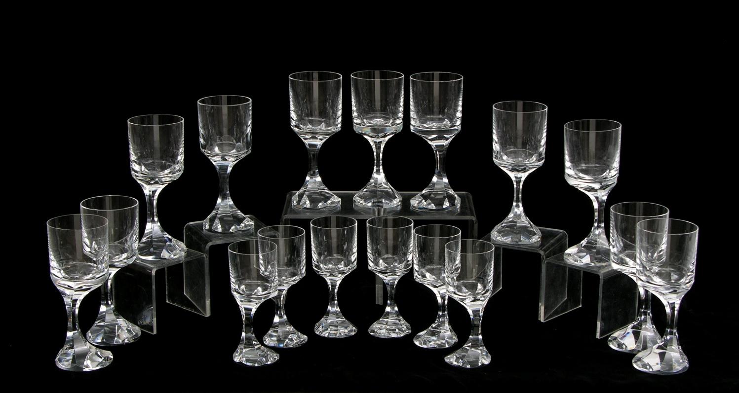 A set of baccarat lead crystal stemware narcisse pattern - Baccarat stemware ...