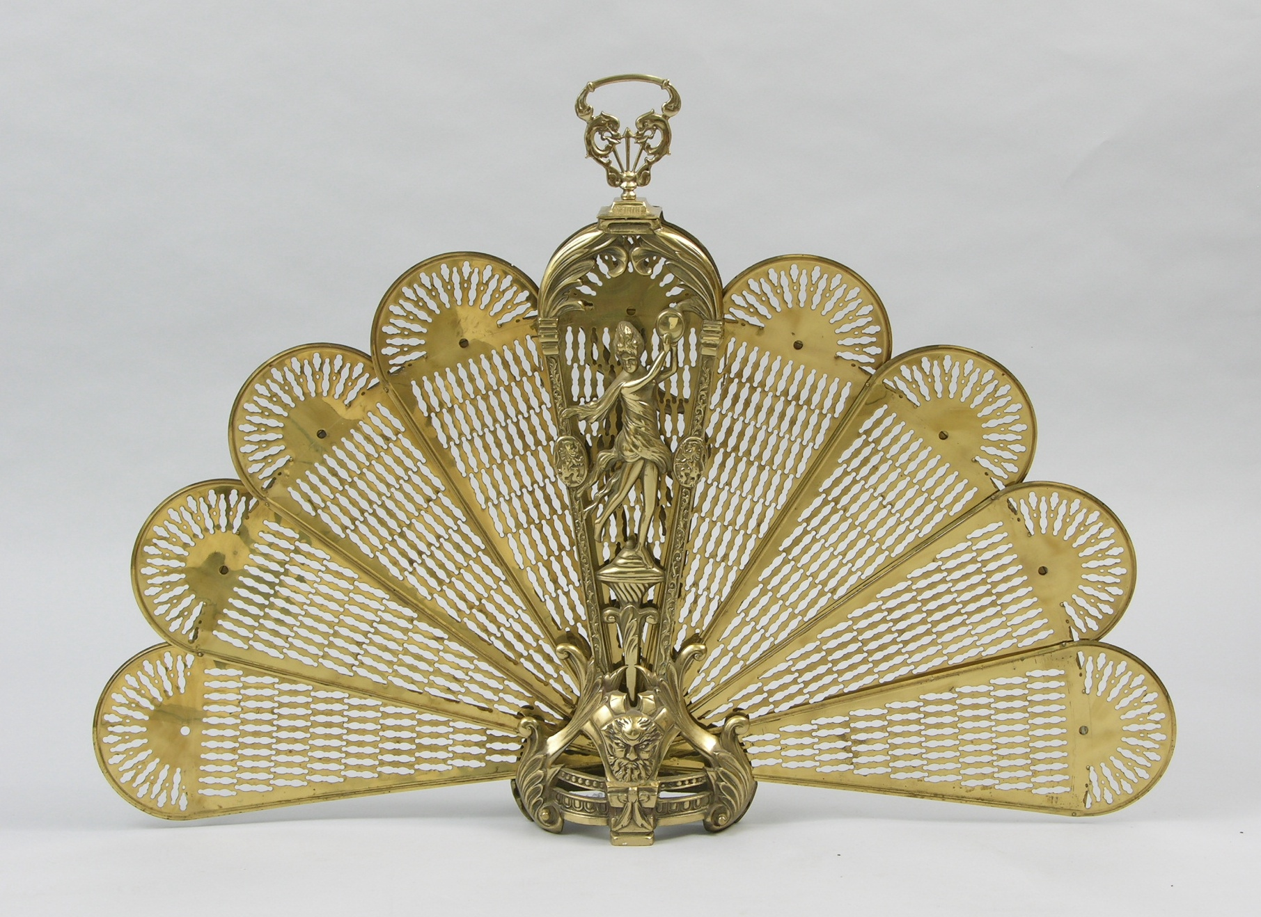 A Victorian Brass Fireplace Fan, 05.18.07, Sold: $69