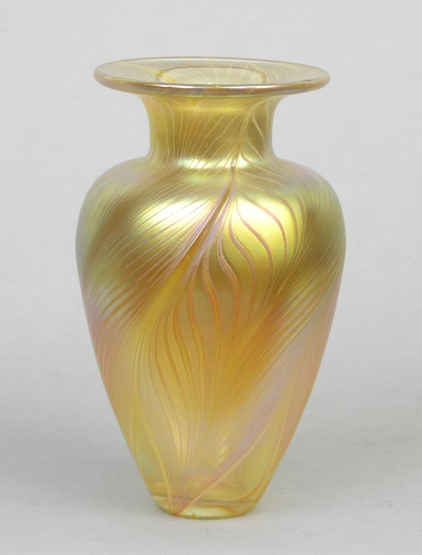 A gold lustre art glass vase by robert held 111607 sold 276 a gold lustre art glass vase by robert held reviewsmspy