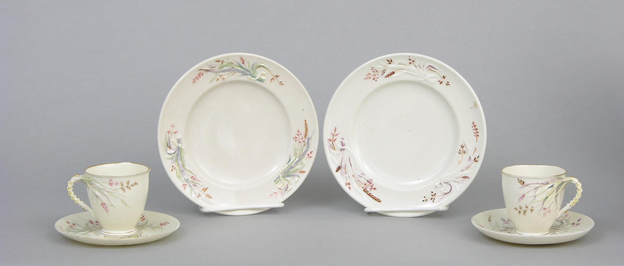 Belleek Grass Tea Cups Saucers u0026 Plates First Period (1863 - 1890) & Belleek Grass Tea Cups Saucers u0026 Plates First Period (1863 - 1890 ...