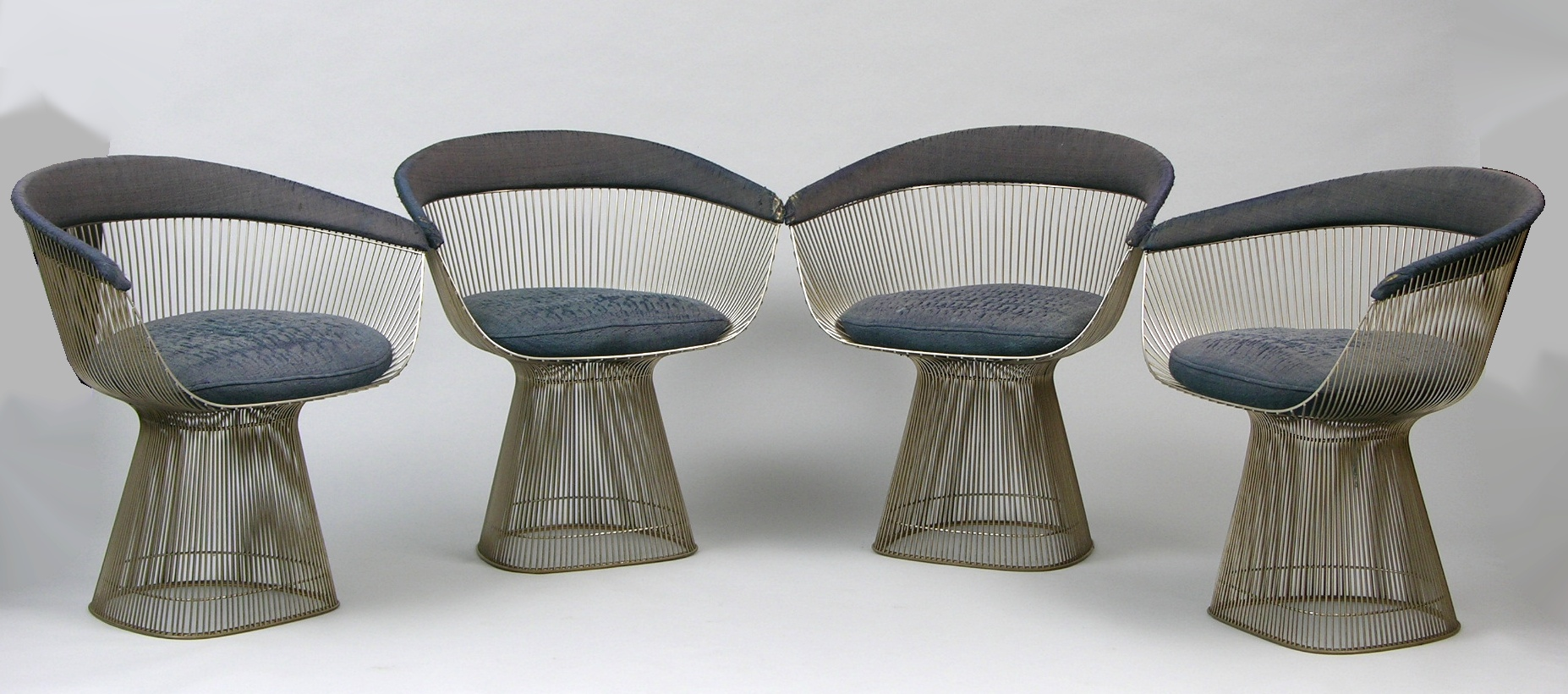 Four Warren Platner Steel Wire Chairs for Knoll International, ca. 1966