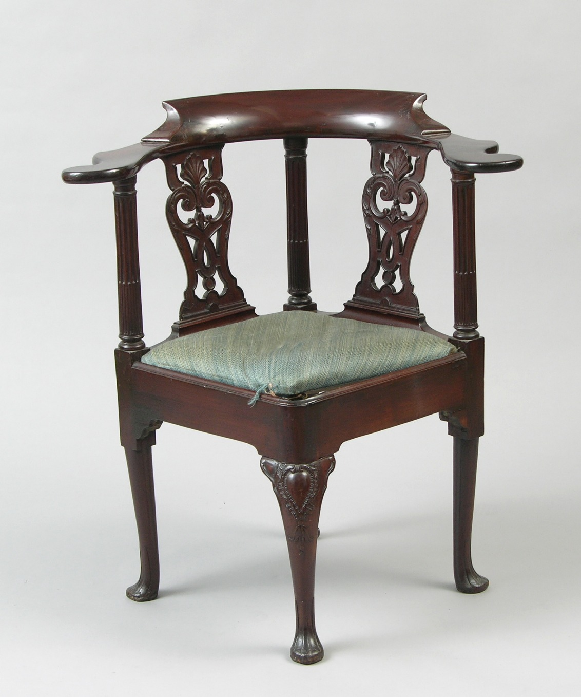 A George III Mahogany Corner Chair