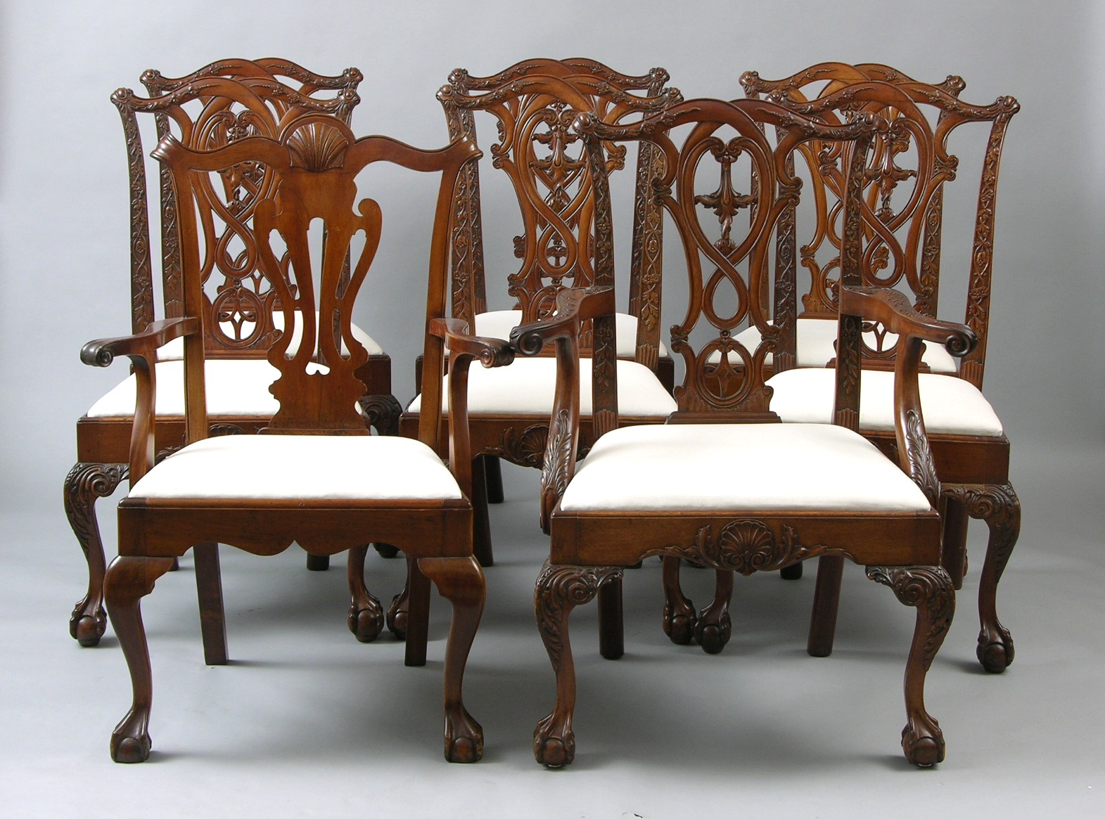 A Set of Late 19thEarly 20th Century Chippendale Style Dining