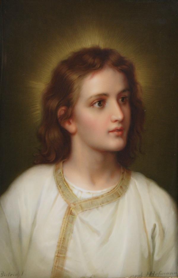 A Kpm Porcelain Plaque Of The Young Jesus 05 17 08