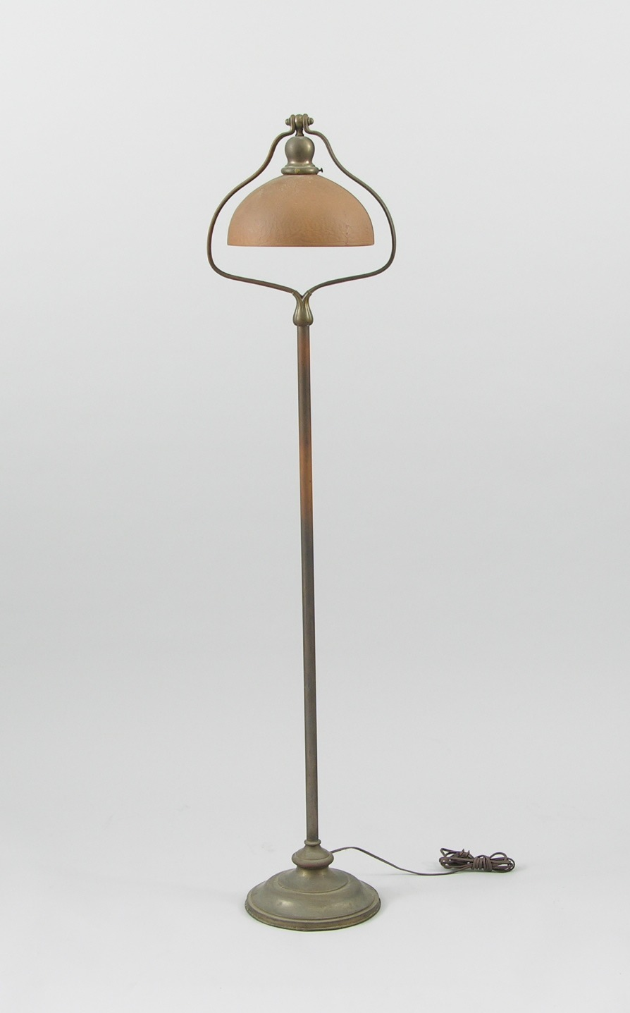 A handel floor lamp with glass shade 112208 sold 4025 a handel floor lamp with glass shade mozeypictures Choice Image