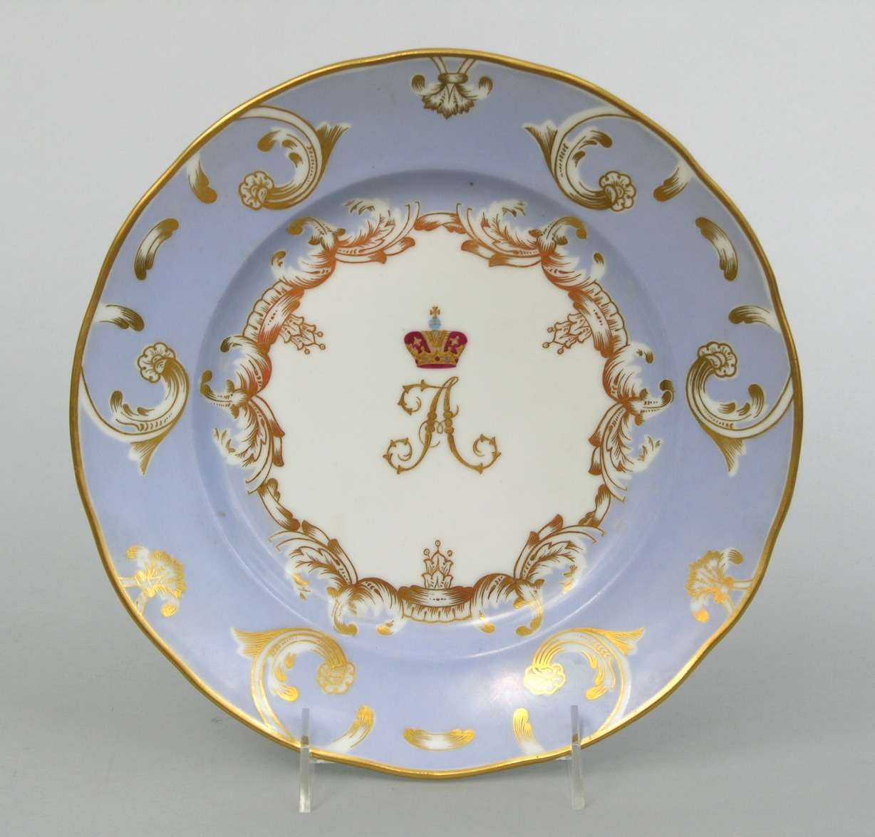 A Russian Imperial Porcelain Plate of the Grand Duke Alexander Nicholaevich Service Imperial Porcelain Manufactory ca. 1889 & Russian imperial porcelain // Aspire Auctions