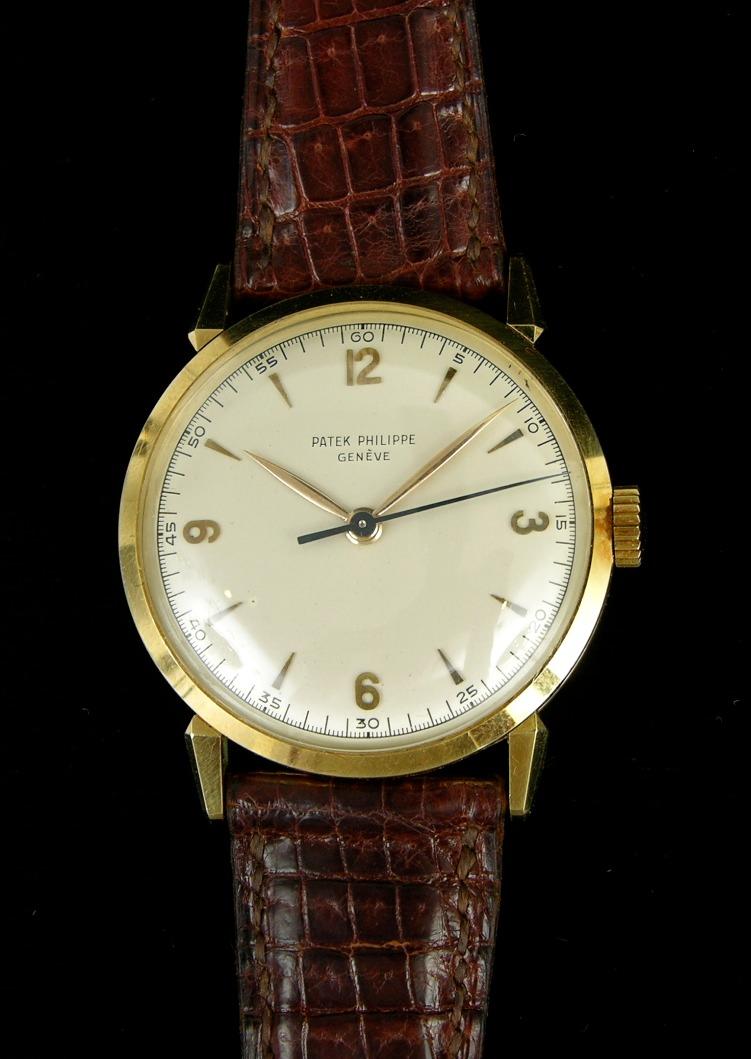 Gentleman S 18k Gold Patek Philippe Wristwatch Ca 1950 S