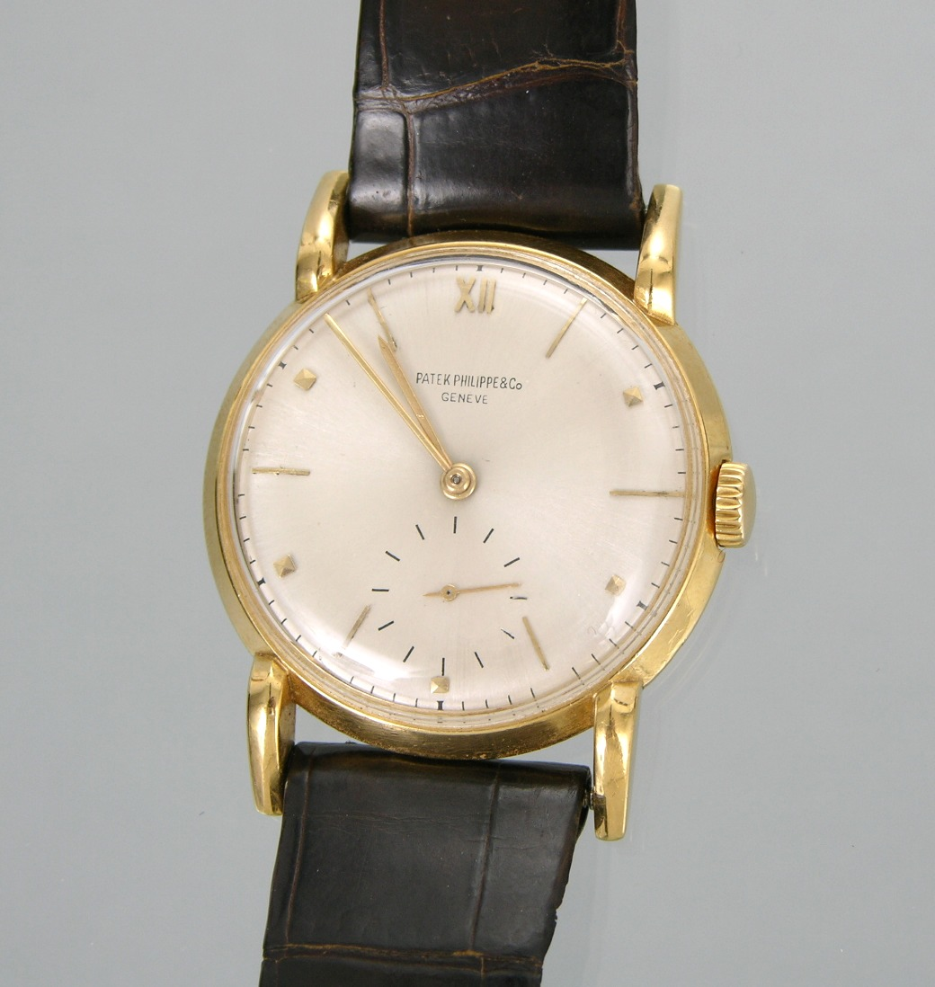A gentleman 39 s claw lugs 18k gold patek philippe wristwatch geneve mid 20th century for Patek philippe geneve