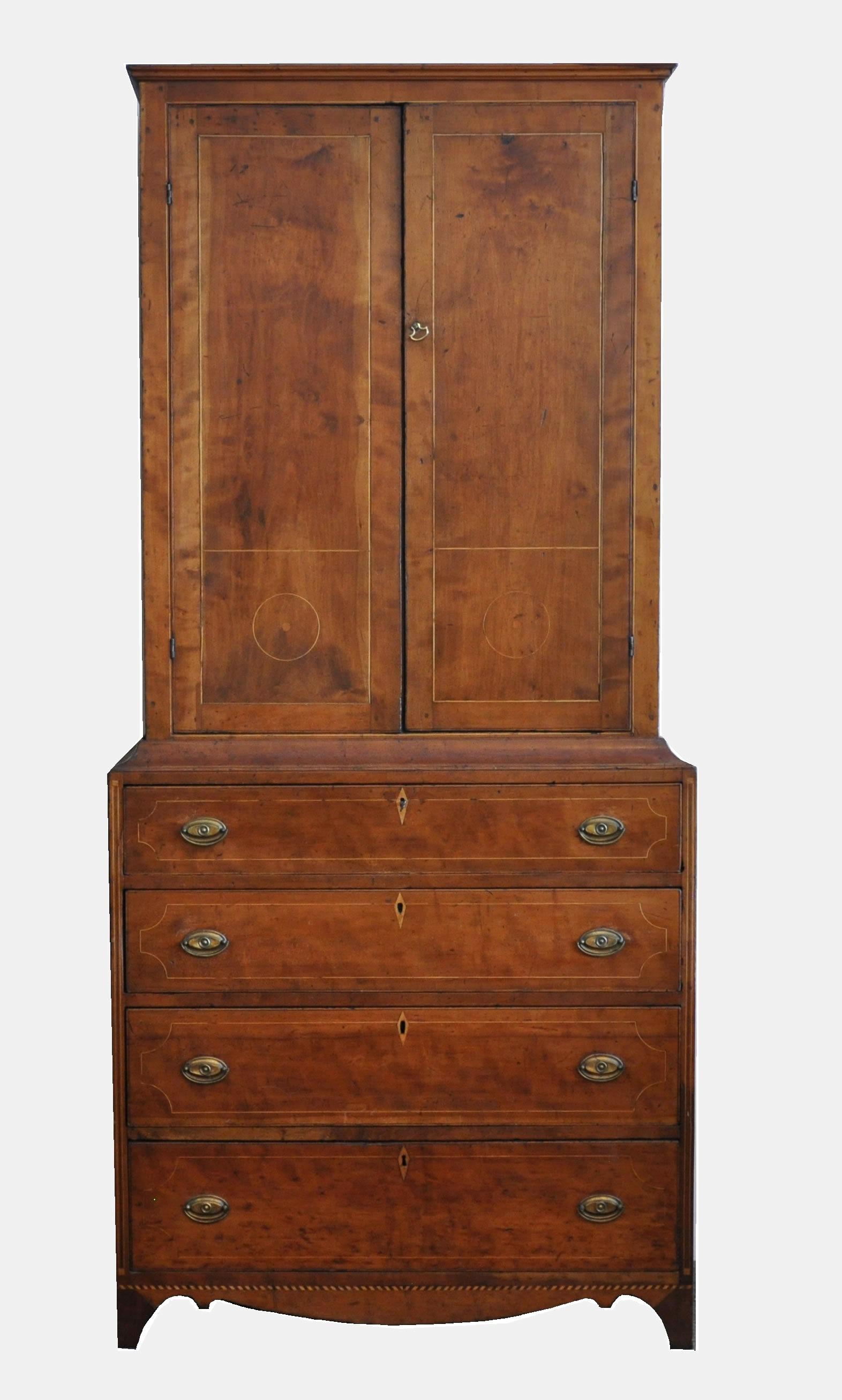 Beau An Antique Linen Press Cabinet