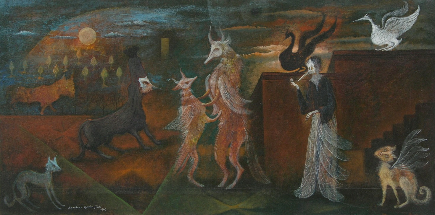 A painting bearing the name leonora carrington for The carrington