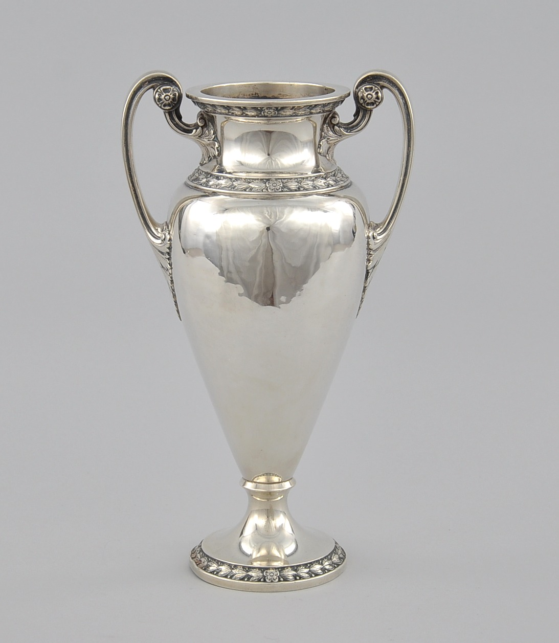 a gorham double handled sterling silver vase