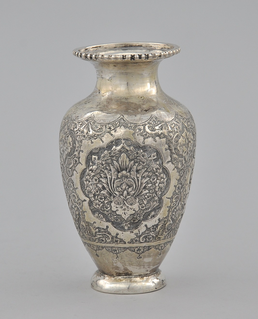 An Antique Persian Silver Vase Ca Early 20th Century 11