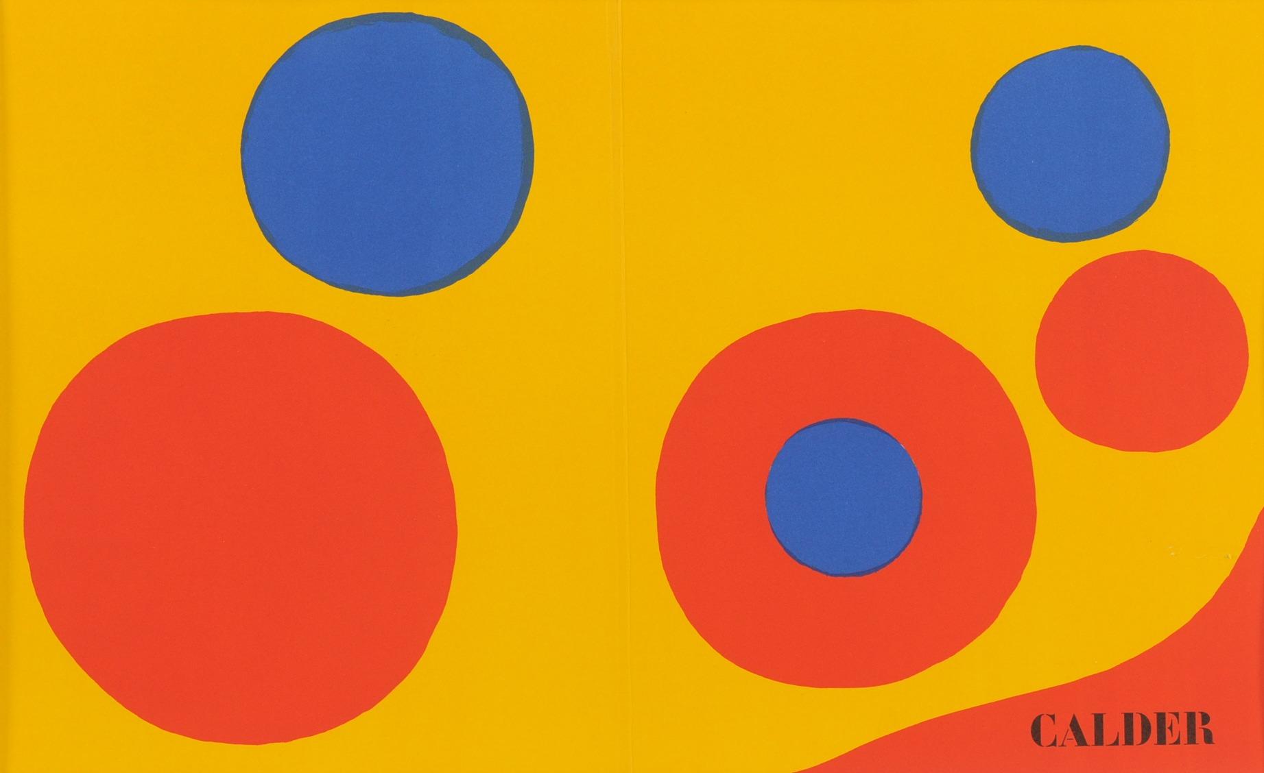 Derriere le miroir 1973 cover designed by alexander for Derriere le miroir calder