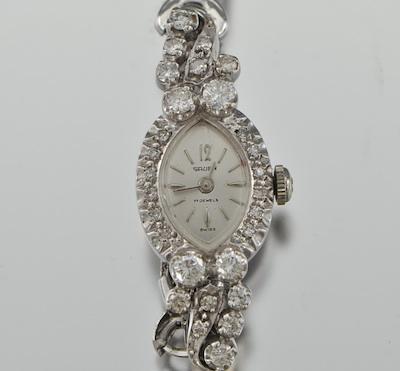 A Vintage Ladies Diamond Watch By Gruen 09 25 09 Sold 230