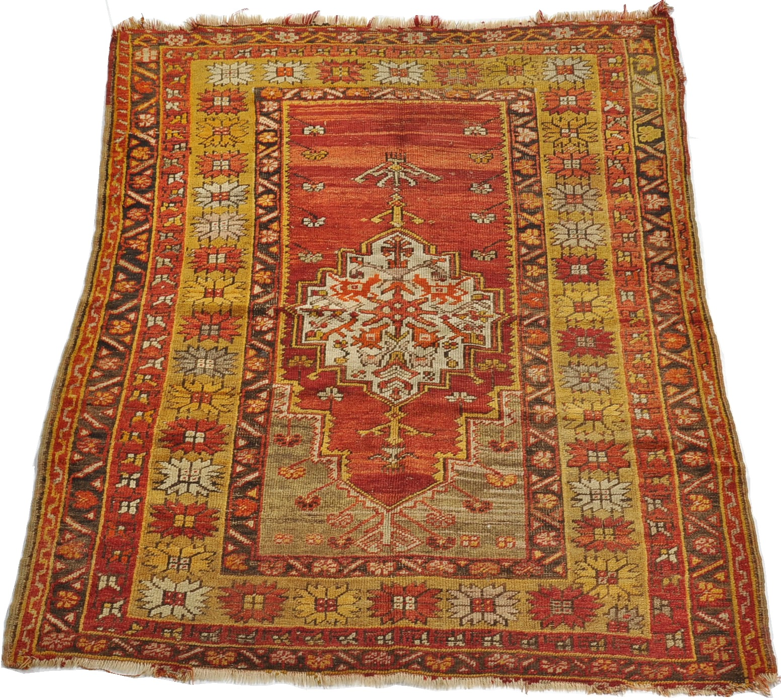Prayer Rug Types: A Caucasian/Turkish Prayer Rug, 09.26.09, Sold: $149.5