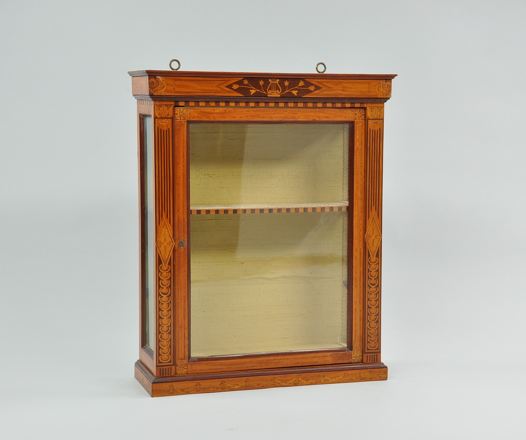A french directoire wall mount display cabinet 091109 sold 7705 a french directoire wall mount display cabinet amipublicfo Image collections