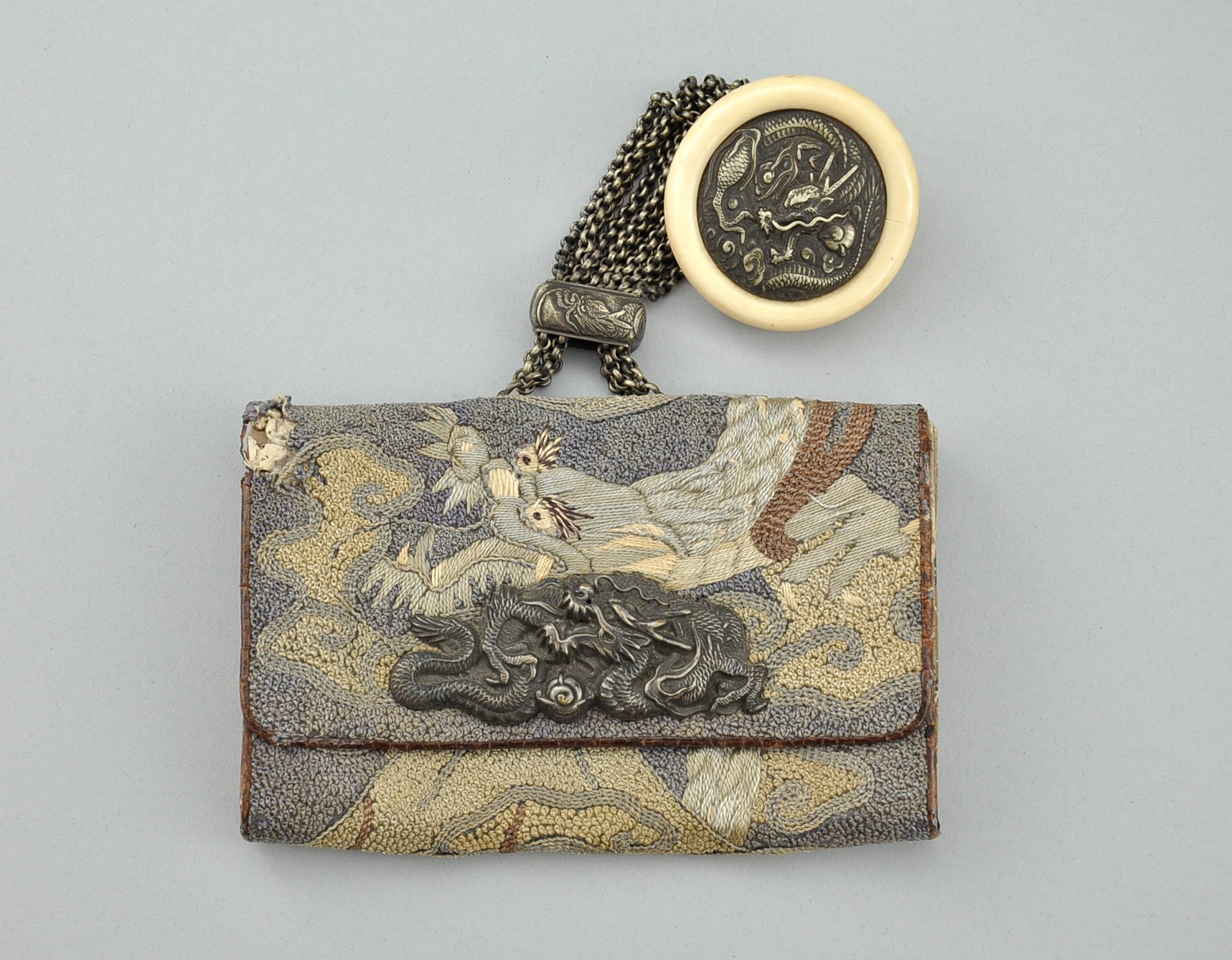 Century And Netsuke Tobacco 75 19th Ca Pouch 327 Sold 09 Japanese Kagamibuta A 26 09