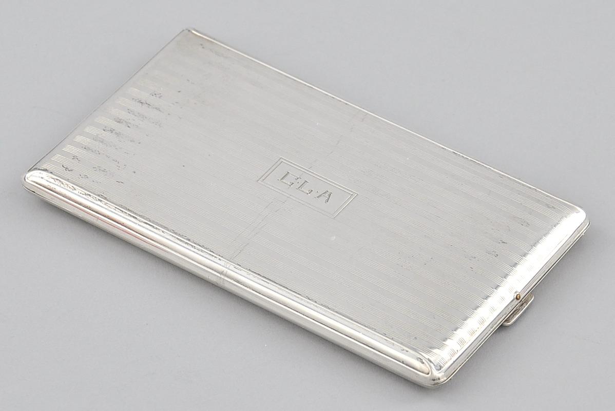 A Sterling Silver Cigarette Case Napier American 20th