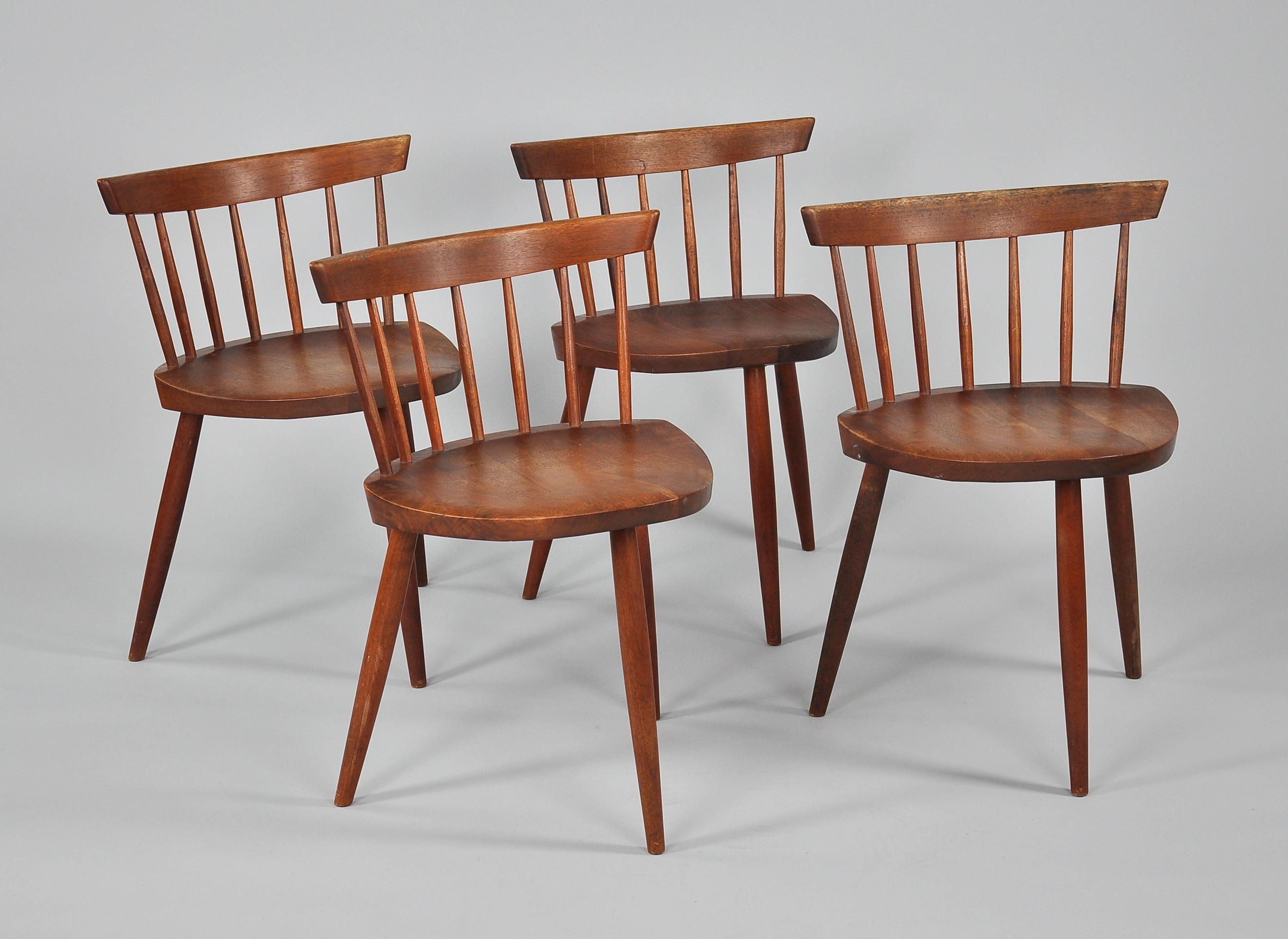 """George Nakashima 1905 1990 """"Mira"""" Chairs 03 06 10 Sold $2817 5"""