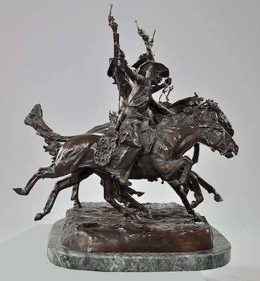 After Frederic Remington Coming Through The Rye Sculpture 05 20 10 Sold 2990