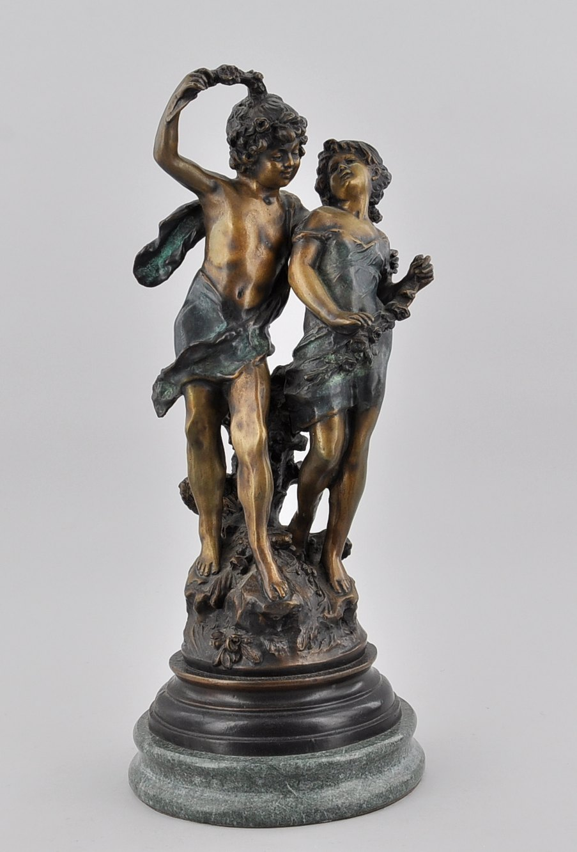 5228d8b14c5 A Bronze Sculpture of Playful Children after Auguste Moreau
