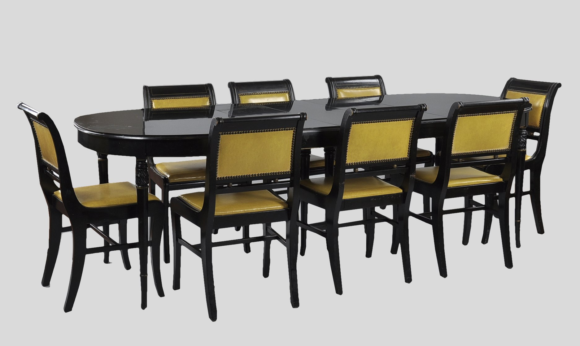 A Watertown Slide Lacquered Dining Table U0026 Eight Chairs
