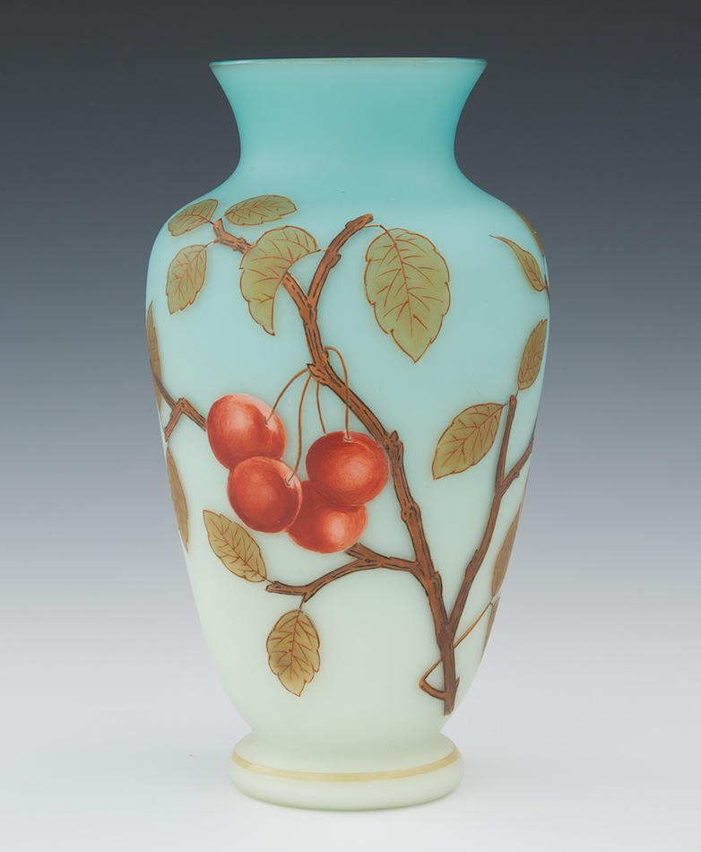 A Cased Glass Vase By Thomas Webb Sons 111810 Sold 3105