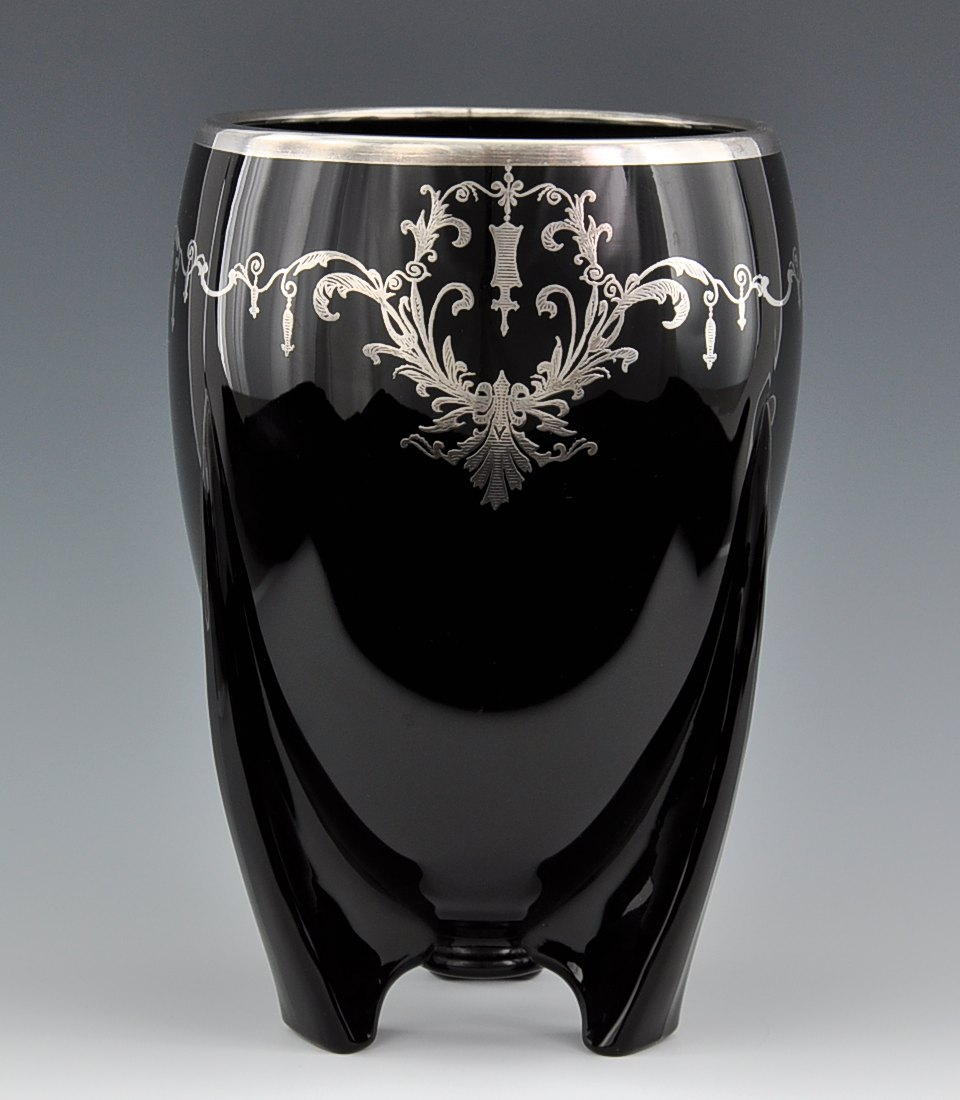 An art deco black glass vase with silver overlay 092410 sold an art deco black glass vase with silver overlay reviewsmspy