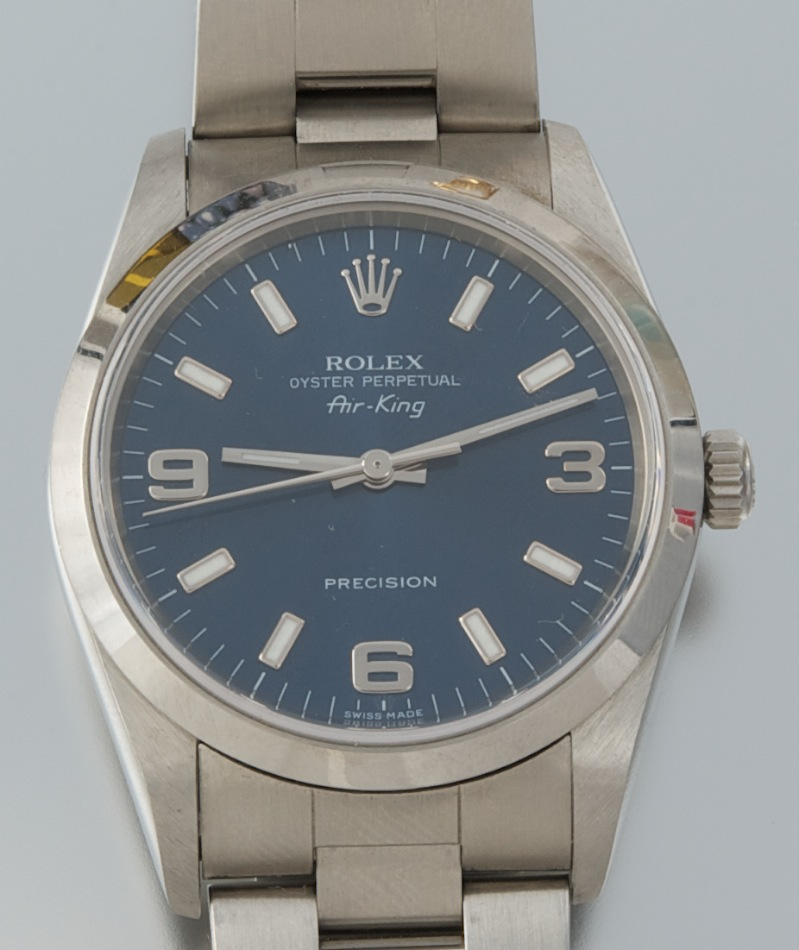 130849443ab A Rolex Gentleman s Air-King Oyster Perpetual Precision Watch ...